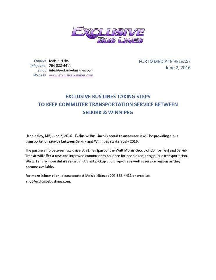 new winnipeg selkirk service manitoba canadian public transit