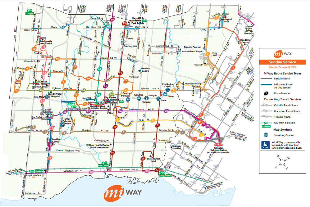 MiWay Page 304 Greater Toronto Area Canadian Public Transit