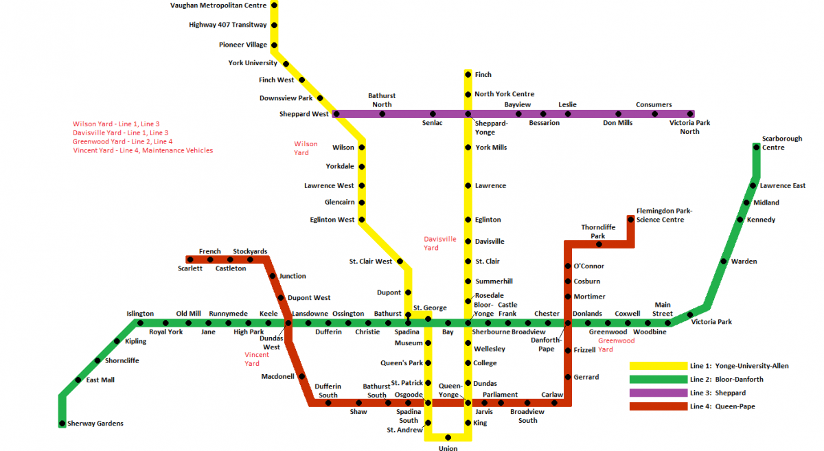 Toronto Subway Map.Fantasy Gta Transit Maps Page 7 Greater Toronto Area Canadian