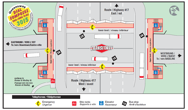 Ottawa-Carleton Regional Transit Commission Queensway Station Map (12-2015)-a.png