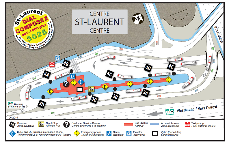 Ottawa-Carleton Regional Transit Commission St. Laurent Station Map (06-2015)-a.png