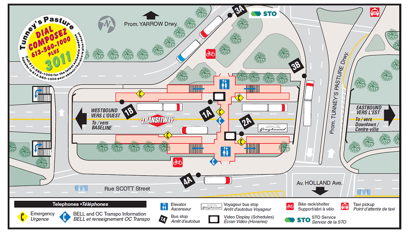 Ottawa-Carleton Regional Transit Commission Tunney's Pasture Station Map (12-2015)-a.png