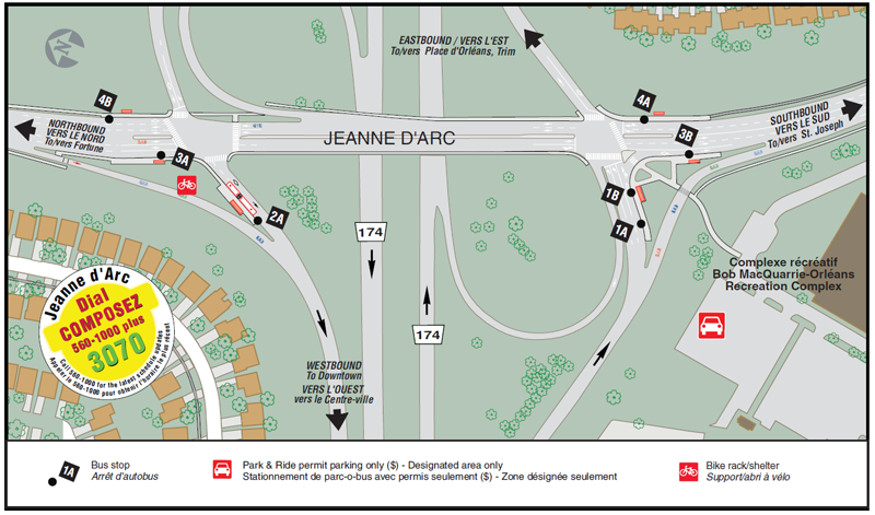 Ottawa-Carleton Regional Transit Commission Jeanne d'Arc Station Map (12-2015)-a.png