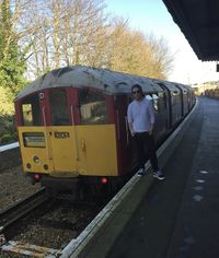 J. Bullock beside a 1938 Stock Tube Train-a.jpg