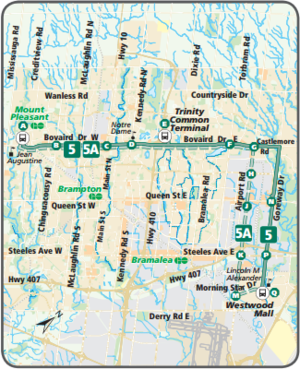 Brampton Transit Route 5 Bovaird Cptdb Wiki