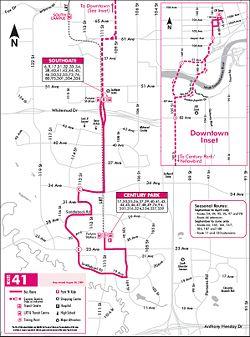 Edmonton Transit System route 41 - CPTDB Wiki on route 22 map, route 17 map, route 33 map, route 2 map, route 12 map, route 5 map, route 18 map, route 101 map, route 6 map, route 1 map, route 23 map, route 70 map, route 30 map, route 91 map, route 53 map, route 20 map, route 202 map, route 50 map, route 60 map, route 90 map,