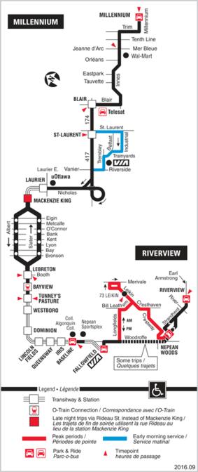 Ottawa Carleton Regional Transit Commission Route 94 Millennium Riverview