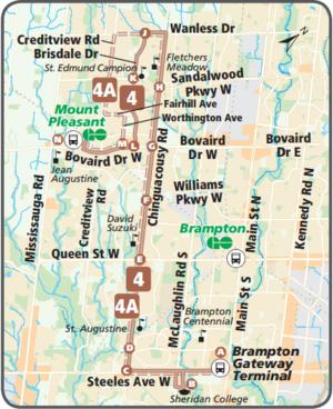 Brampton Transit Route 4 Chinguacousy Cptdb Wiki