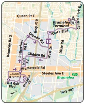 Brampton Transit route 10 South Industrial CPTDB Wiki