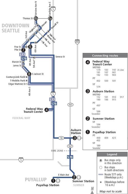 Sound Transit route 577 'Federal Way / Seattle' - CPTDB Wiki